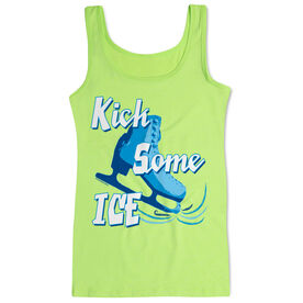 Figure Skating Women's Athletic Tank Top Kick Some Ice