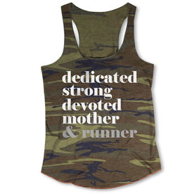 Running Camouflage Racerback Tank Top - Run Mantra - Mother Runner
