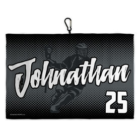 Lacrosse Bag Towels Laxer Script with Halftone Pattern