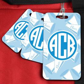 Cheer Bag/Luggage Tag Monogram With Megaphone Pattern