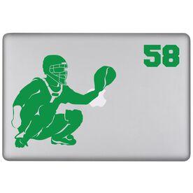 Baseball Personalized Catcher Removable ChalkTalkSPORTSGraphix Laptop Decal