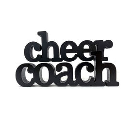 Cheer Coach Wood Words
