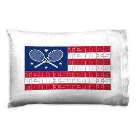 Tennis Pillowcase - American Flag