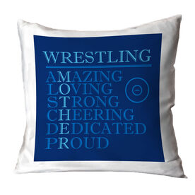 Wrestling Throw Pillow - Mother Words