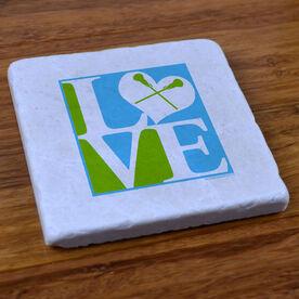 Love Lacrosse - Natural Stone Coaster