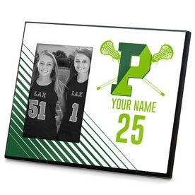 Wood Frame - Pentucket Youth Girls Lacrosse Logo (WHITE)