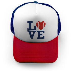 Softball Trucker Hat Love Softball