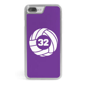 Volleyball iPhone® Case - Volleyball with Number