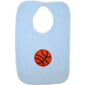 Baby Bib with Basketball Embellishment