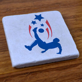 Soccer Spirit (Male) - Stone Coaster
