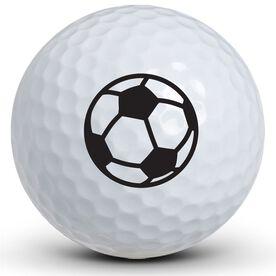 Soccer Ball Logo Golf Balls