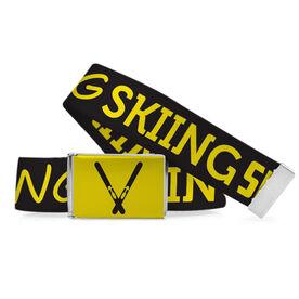 Skiing Lifestyle Belt Skiing Word