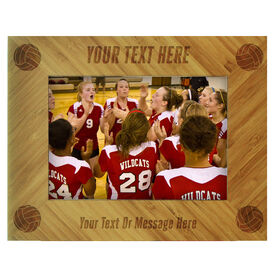 Volleyball Bamboo Engraved Picture Frame Your Text
