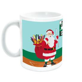 Softball Ceramic Mug Santa