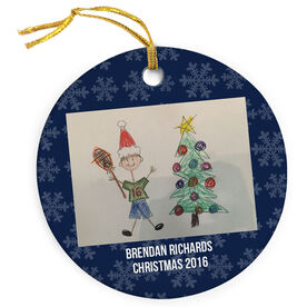 Guys Lacrosse Porcelain Ornament Personalized Your Artwork