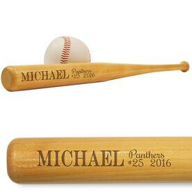 Baseball Mini Engraved Bat Season Information