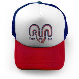 Running Trucker Hat - Run Free Or Die America