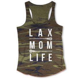 Girls Lacrosse Camouflage Racerback Tank Top - Lax Mom Life