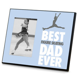 Figure Skating Wood Frame Best Dad Ever