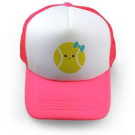 Tennis Trucker Hat Ball Smile