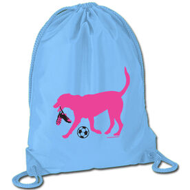 Soccer Sport Pack Cinch Sack Sasha the Soccer Dog