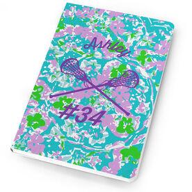 Girls Lacrosse Notebook Flower Power