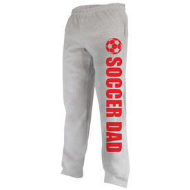 Soccer Fleece Sweatpants Soccer Dad with Soccer Ball