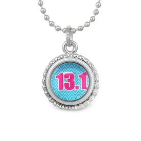 13.1 Blue Chevron SportSNAPS Necklace