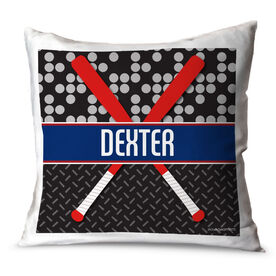 Baseball Throw Pillow Personalized 2 Tier Baseball Bats