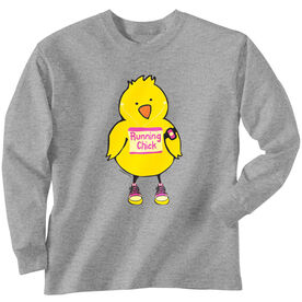 Youth T-Shirt Long Sleeve Running Chick