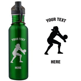 Volleyball Female Custom Text 24 oz Stainless Steel Water Bottle