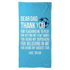 Soccer Beach Towel Dear Dad