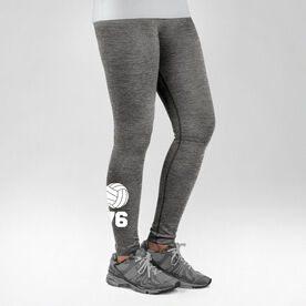 Volleyball Performance Tights Volleyball with Number
