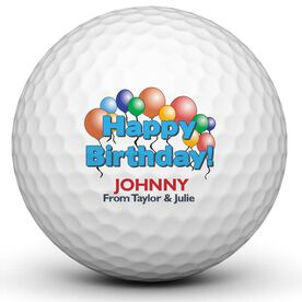 Happy Birthday Balloons Golf Balls