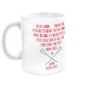 Lacrosse Ceramic Mug - Dear Mom Heart