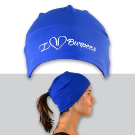 Performance Ponytail Cuff Hat I Heart Burpees
