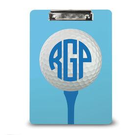 Golf Custom Clipboard Monogrammed Golf Ball