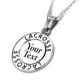 Lacrosse Circle Necklace Your Text