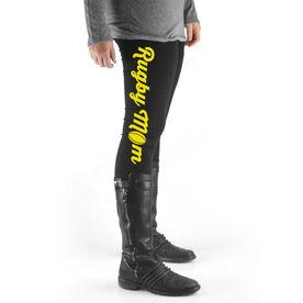 Rugby High Print Leggings Mom