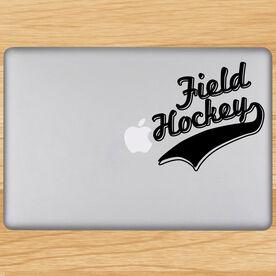 Field Hockey Written Out Removable ChalkTalkGraphix Laptop Decal