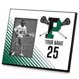 Wood Frame - Pentucket Youth Lacrosse Logo (Green)