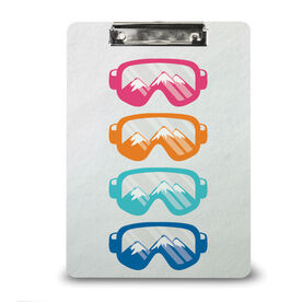 Skiing & Snowboarding Custom Clipboard - Multicolored Snow Goggles