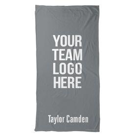 Figure Skating Beach Towel Custom Team Logo