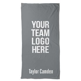 Crew Beach Towel Custom Team Logo