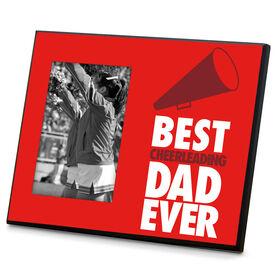 Cheerleading Wood Frame Best Dad Ever