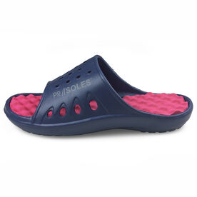 PR SOLES® Recovery Sandals - Navy Blue/Pink