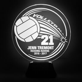 Volleyball Acrylic LED Lamp Spike With 3 Lines and Number