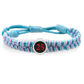 Your Lacrosse Team Number Adjustable Woven SportSNAPS Bracelet