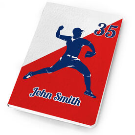 Baseball Notebook Personalized Pitcher Silhouette