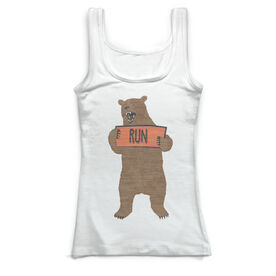 Running Vintage Fitted Tank Top - Trail Bear
